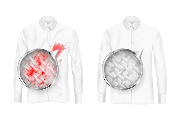 Kleidung stoffe tiefen reinigung vektor-konzept Kostenlosen Vektoren