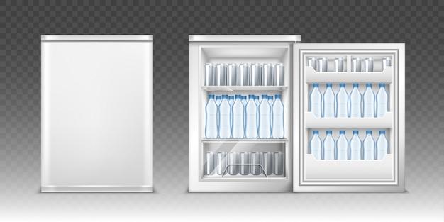 Kleiner kühlschrank mit getränken Kostenlosen Vektoren