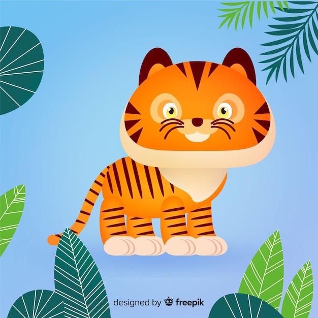Kleiner tiger Kostenlosen Vektoren