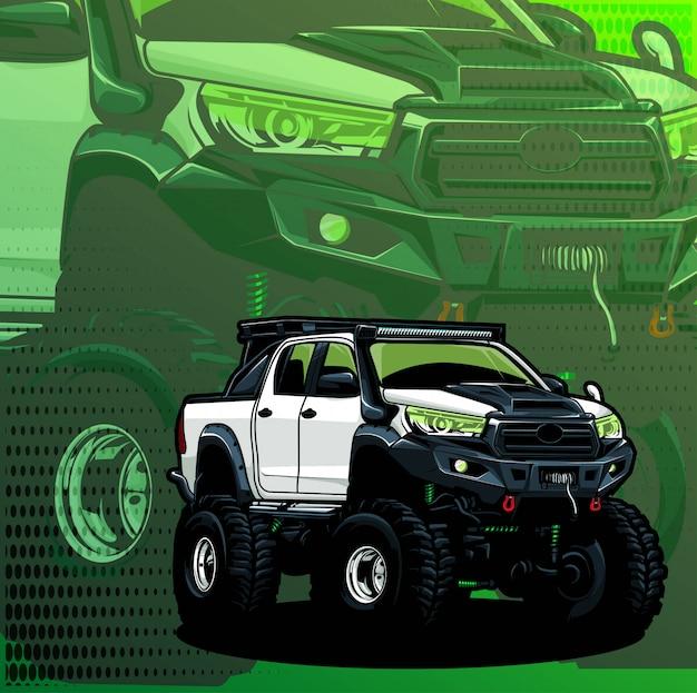 Kleintransporter 4x4 Premium Vektoren