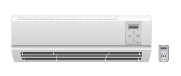Klimaanlage klimaanlage mit entferntem vektorsymbol Premium Vektoren