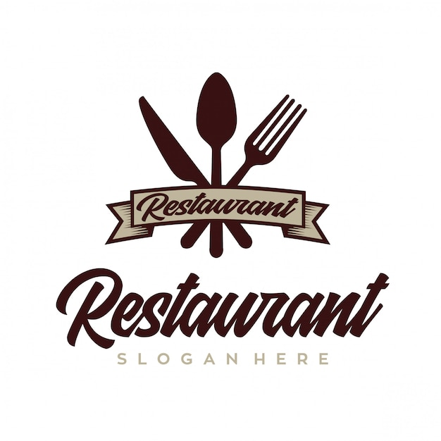 Kochen und restaurant logo design vector retro Premium Vektoren