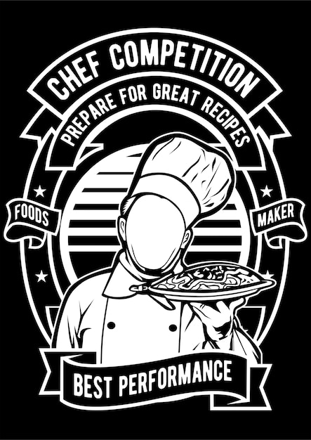 Kochwettbewerb Premium Vektoren
