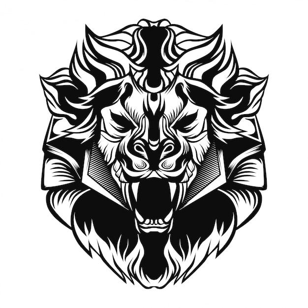 König der löwen-logo Premium Vektoren