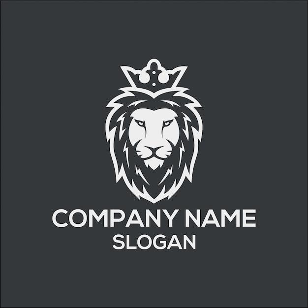 König lion logo konzept Premium Vektoren