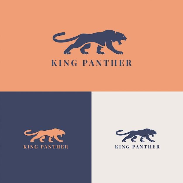 König panther logo vorlage marke unternehmen Premium Vektoren