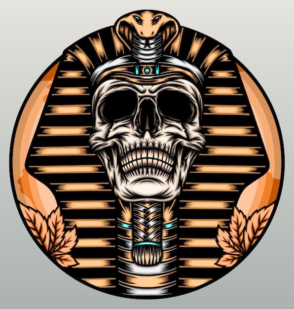 König pharao schädel. Premium Vektoren