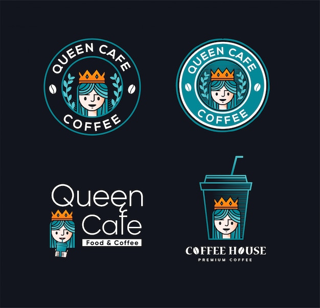 Königin kaffee Premium Vektoren