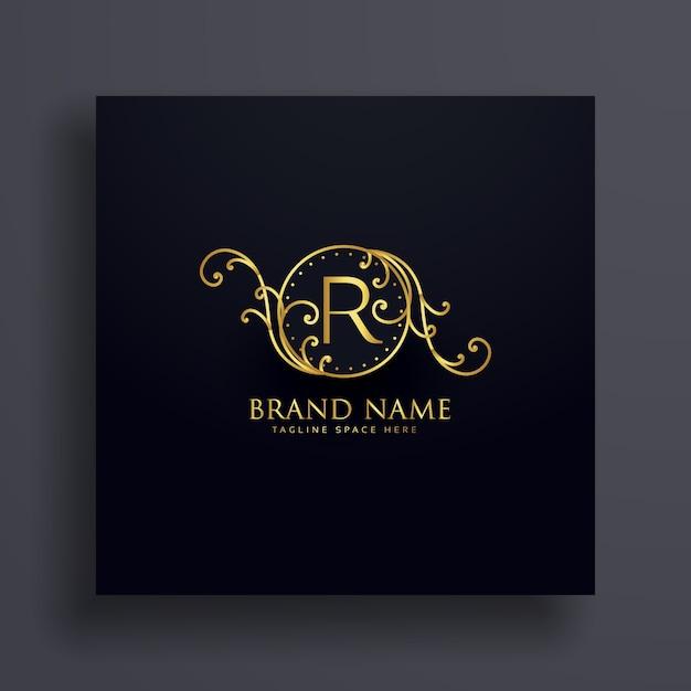 Königlichen buchstaben r premium-logo-konzept-design Kostenlosen Vektoren