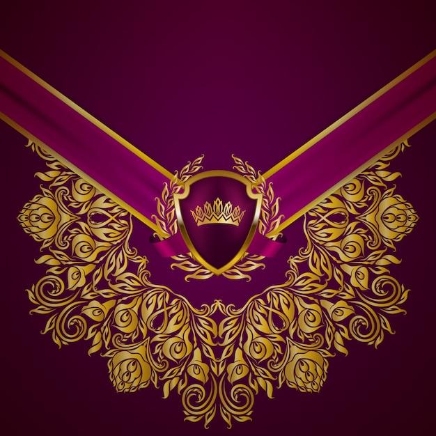 Königlicher hintergrund mit ornament Premium Vektoren