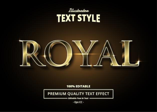 Königlicher texteffekt Premium Vektoren