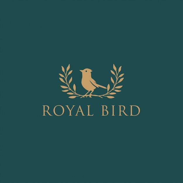 Königlicher vogel Premium Vektoren