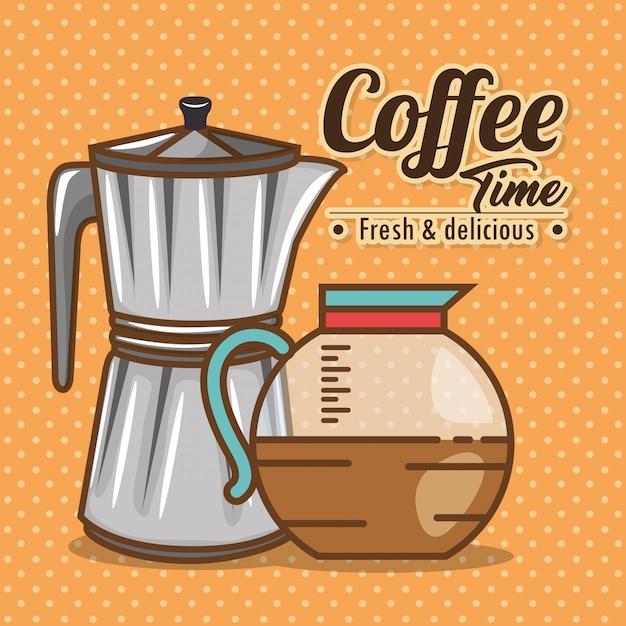 Köstliche kaffeezeitelemente Kostenlosen Vektoren
