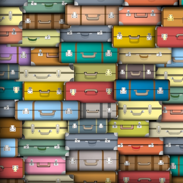 Koffer, vektor hintergrund Premium Vektoren