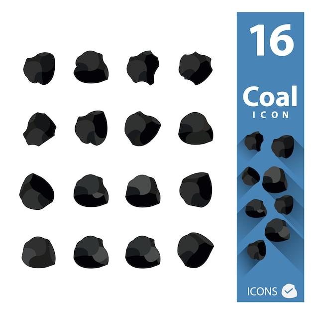 Kohle-ikonen-sammlung Kostenlosen Vektoren