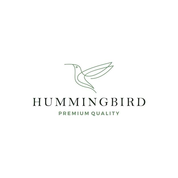 Kolibri colibri-vogellogo Premium Vektoren