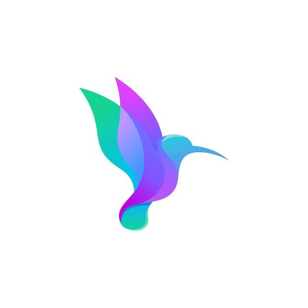 Kolibri-logo Premium Vektoren