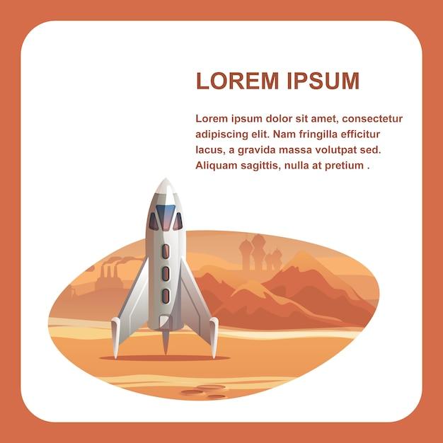 Kolonisation red planet astronaut. Premium Vektoren