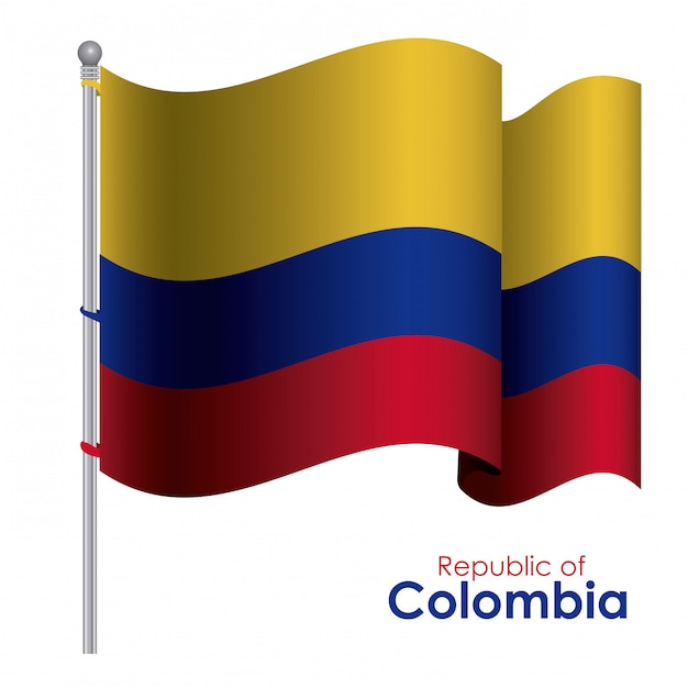 Kolumbien-design Premium Vektoren
