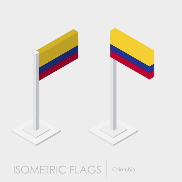 Kolumbien isometrische flagge Kostenlosen Vektoren