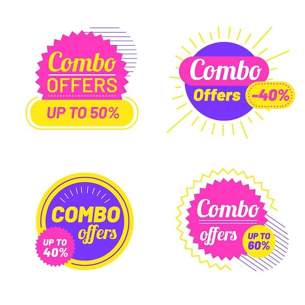 Kombi-angebote - etiketten Kostenlosen Vektoren