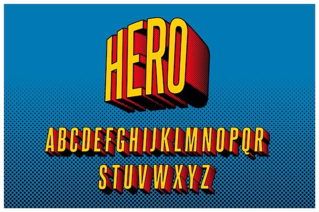 Komisches alphabet 3d Premium Vektoren
