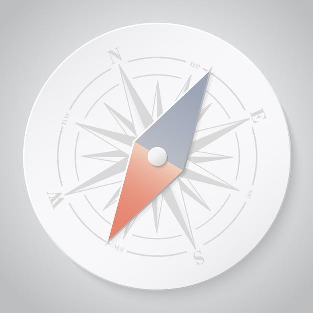 Kompass aus papier Premium Vektoren