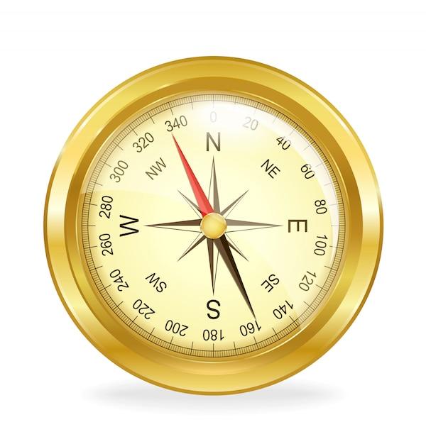 Kompass. vektorobjekt Premium Vektoren