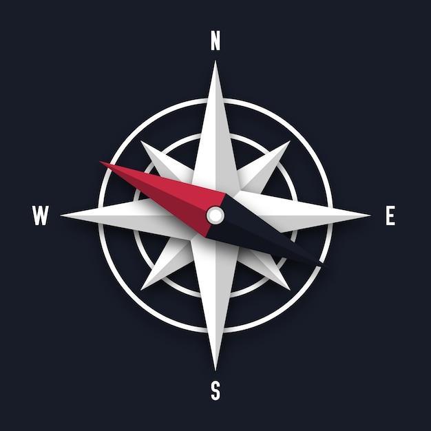 Kompasspfeilabbildung Premium Vektoren