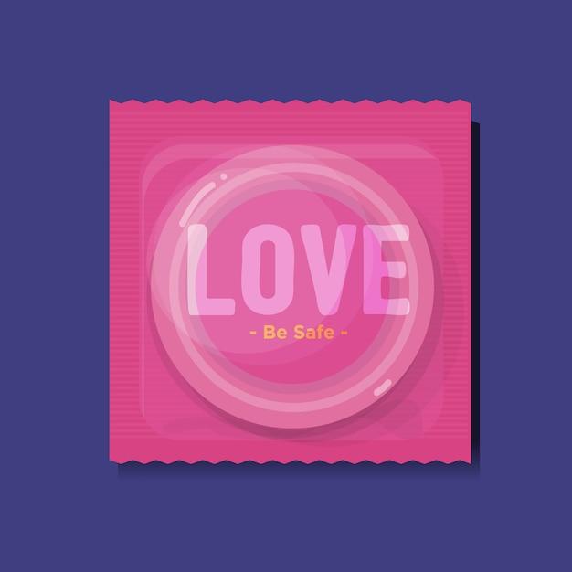 Kondomverpackungen mit Premium Vektoren
