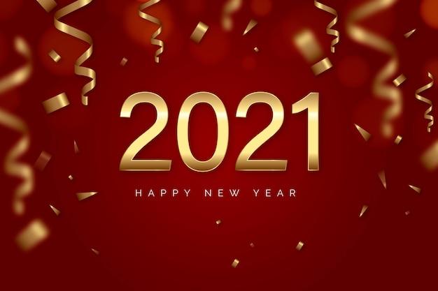Konfetti neujahr 2021 hintergrund Kostenlosen Vektoren