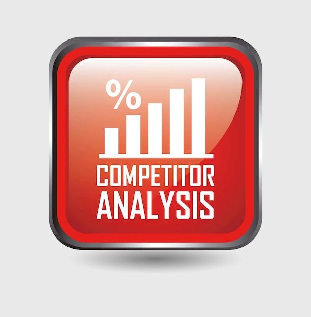 Konkurrenten analyse-taste über weißem hintergrund vektor Premium Vektoren