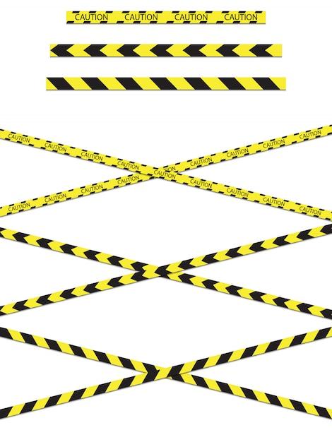 Konstruktionsband warnung vor gefahr. Premium Vektoren
