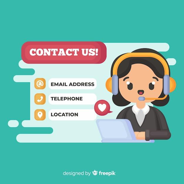 Kontaktiere uns Kostenlosen Vektoren