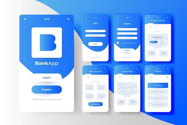 Konzept der banking-app-schnittstelle Kostenlosen Vektoren