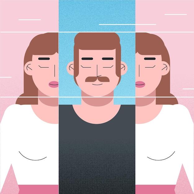 Konzept der geschlechtsidentität Kostenlosen Vektoren
