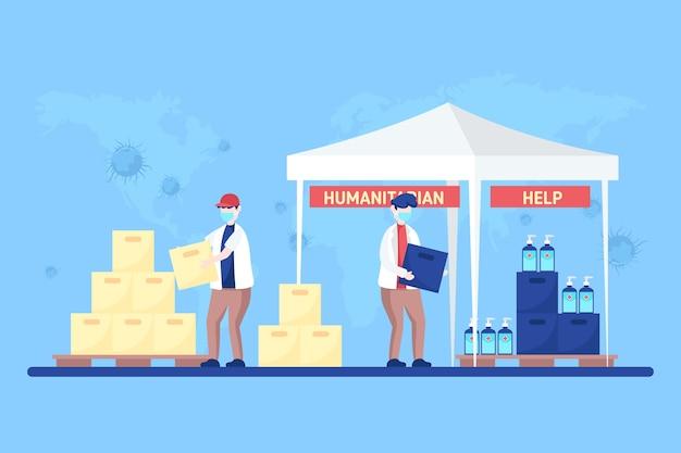 Konzept der humanitären hilfe Kostenlosen Vektoren