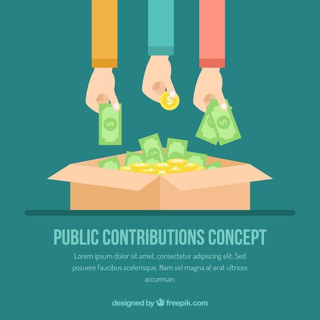 Konzept der öffentlichen beiträge Kostenlosen Vektoren