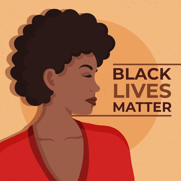 Konzept der schwarzen lebensmaterie Premium Vektoren