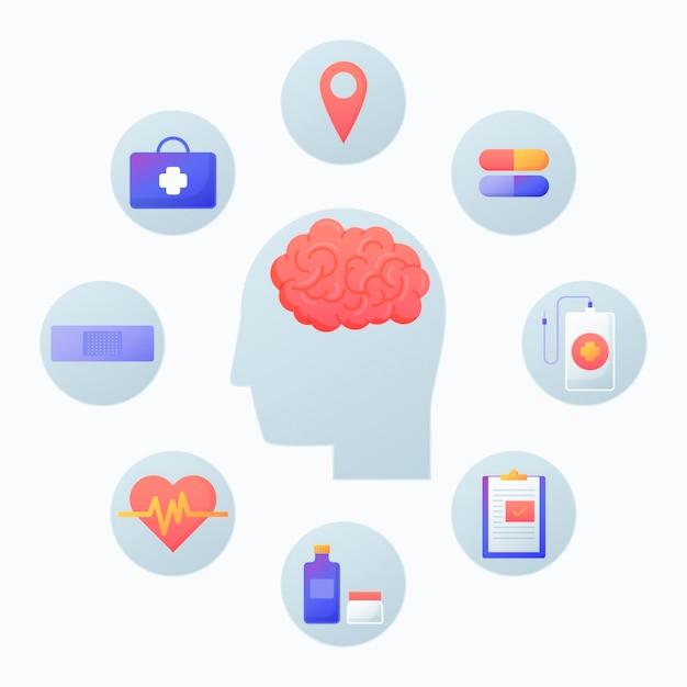 Konzept des bewusstseins für psychische gesundheit Kostenlosen Vektoren