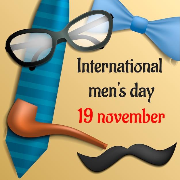 Konzept des internationalen tages der männer tages Premium Vektoren