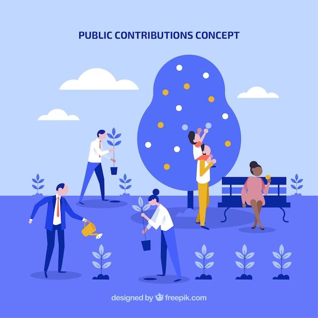 Konzept des öffentlichen beitrags Kostenlosen Vektoren