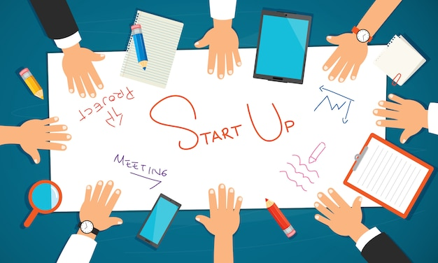 Konzept für bildung oder digitales marketing Premium Vektoren