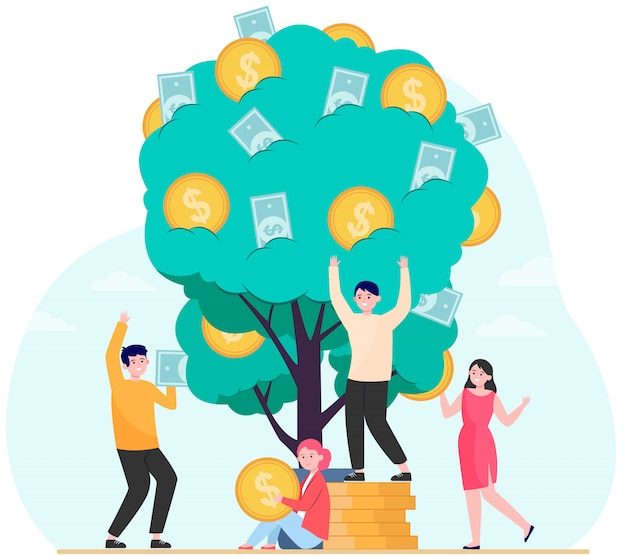 Konzept für finanzen, umsatz und finanzielles wachstum Kostenlosen Vektoren