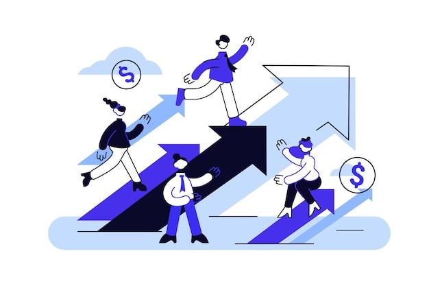 Konzept karriere wachstum illustration Premium Vektoren