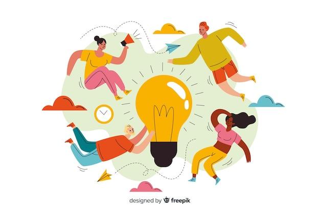 Konzept landing page brainstorming Kostenlosen Vektoren
