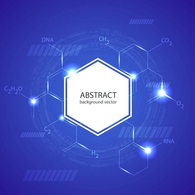 Konzept-schablonendesign des medizinischen hintergrundes der abstrakten moleküle Premium Vektoren