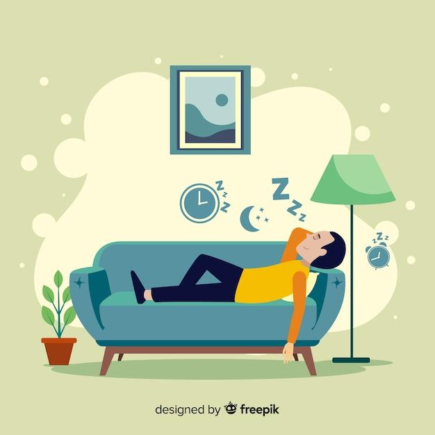 Konzeptillustration zu hause sich entspannen Kostenlosen Vektoren