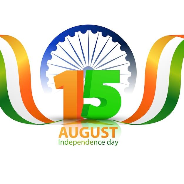 Konzeption independence day india graphics. gruß feier Premium Vektoren