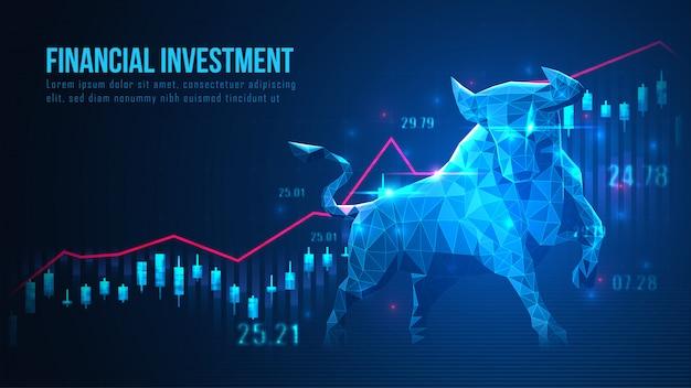Konzeptkunst der börse bullish trend Premium Vektoren